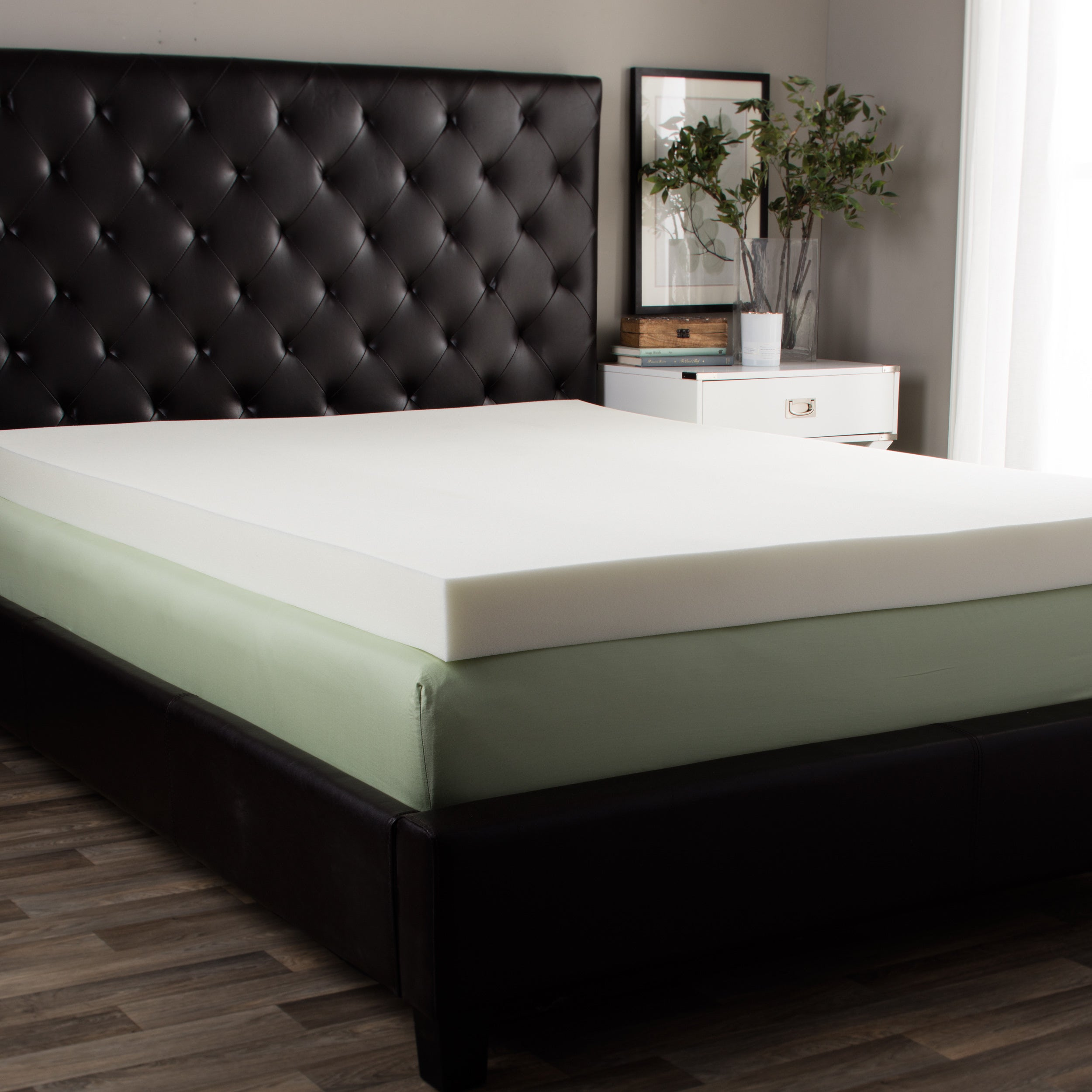 Splendorest 4-inch Memory Foam Mattress Topper Queen Size...
