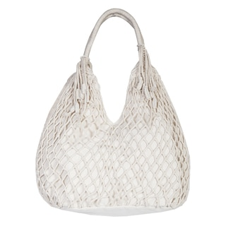 Scully Natural Cotton Macrame Hobo Handbag