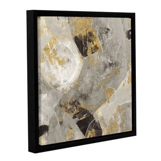 Silvia Vassileva 'Painted Desert Neutral' Gallery Wrapped Floater-framed Canvas