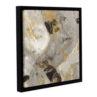 Silvia Vassileva 'Painted Desert Neutral' Gallery Wrapped Floater-framed Canvas