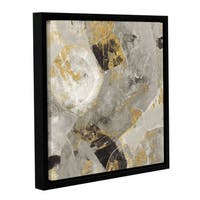 Silvia Vassileva 'Painted Desert Neutral' Gallery Wrapped Floater-framed Canvas - Brown