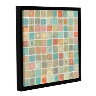 Silvia Vassileva 'Sea Glass Mosaic' Gallery Wrapped Floater-framed Canvas