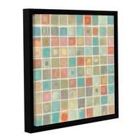 Silvia Vassileva 'Sea Glass Mosaic' Gallery Wrapped Floater-framed Canvas - Multi