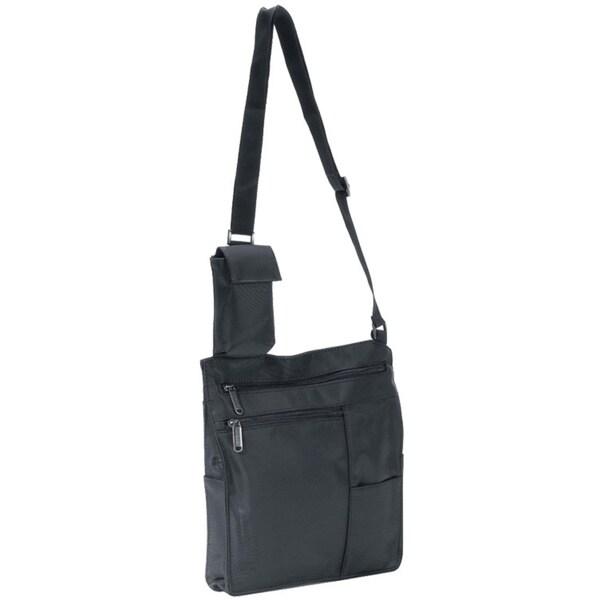 6d9c4d356a Shop Unisex Travel Black Slim Lightweight Cross Body Wear Messenger  Organizer Bag - On Sale - Free Shipping On Orders Over  45 - Overstock -  11705706