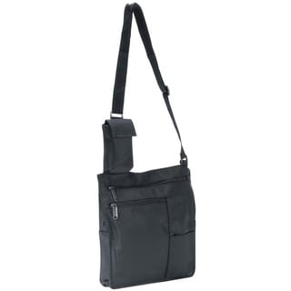 Goodhope Black Slim Lightweight Body Wear Messenger Bag