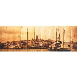 Exotic Port 60x20-inch Indoor/ Outdoor Full Color Cedar Wall Art