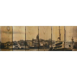 Exotic Port 32x11-inch Indoor/ Outdoor Full Color Cedar Wall Art