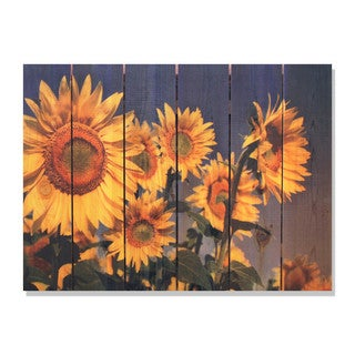 Sunny Bunch 33x24-inch Indoor/ Outdoor Full Color Cedar Wall Art
