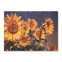Sunny Bunch 33x24-inch Indoor/ Outdoor Full Color Cedar Wall Art