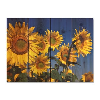 Sunny Bunch 22x16-inch Indoor/ Outdoor Full Color Cedar Wall Art