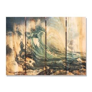 Wild Wave 22x16-inch Indoor/ Outdoor Full Color Cedar Wall Art
