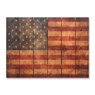 The Patriot 33x24-inch Indoor/ Outdoor Full Color Cedar Wall Art