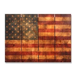 The Patriot 22x16-inch Indoor/ Outdoor Full Color Cedar Wall Art