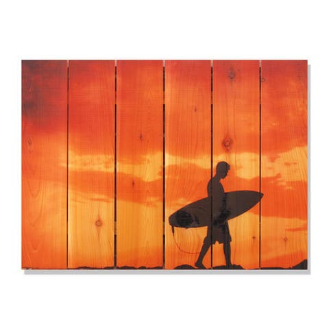 Beach Boy 33x24-inch Indoor/ Outdoor Full Color Cedar Wall Art