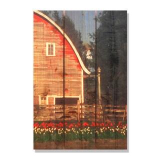 Barn Yard 16x24-inch Indoor/ Outdoor Full Color Cedar Wall Art