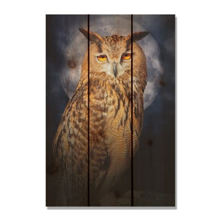 Night Owl 16X24-inch Indoor/ Outdoor Full Color Cedar Wall Art