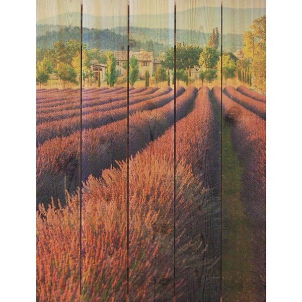 French Lavender 28x36-inch Indoor/ Outdoor Full Color Cedar Wall Art