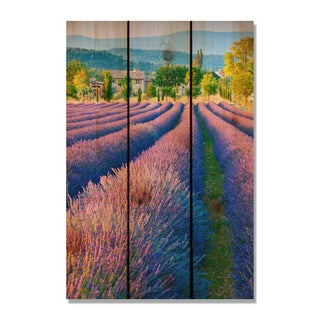 French Lavender 16x24-inch Indoor/ Outdoor Full Color Cedar Wall Art