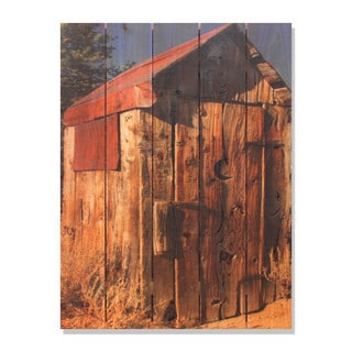Out House 28x36-inch Indoor/ Outdoor Full Color Cedar Wall Art