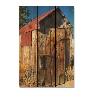 Out House 16x24-inch Indoor/ Outdoor Full Color Cedar Wall Art
