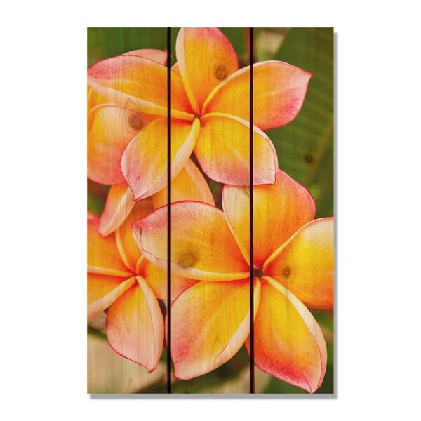 Tropical Flower 16x24-inch Indoor/ Outdoor Full Color Cedar Wall Art