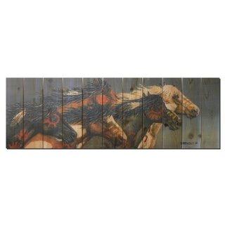 Night Raid 60x20-inch Indoor/ Outdoor Full Color Cedar Wall Art