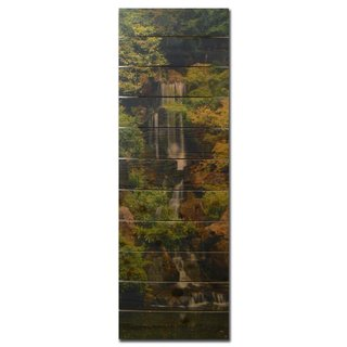 Forest Waterfall 20x60-inch Indoor/ Outdoor Full Color Cedar Wall Art