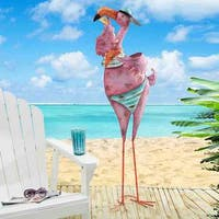 Sunjoy Large Baseball cap and Attitude Flamingo Sculpture