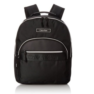 Calvin Klein Nylon Black/Silver Zip Backpack