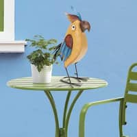 Sunjoy Whimsical Hand Painted Metal Bird Statue, 19.50-inches