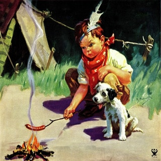 Marmont Hill 'Camp Friends' by Curtis Painting Print on Canvas