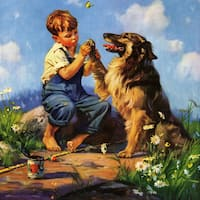 Marmont Hill - Handmade Best Friends Painting Print on Canvas