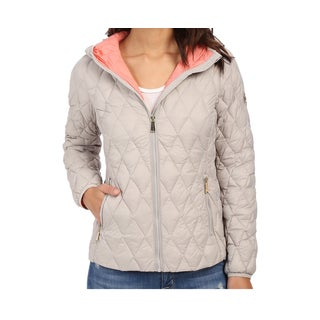 Michael Michael Kors Silver Hooded Packable