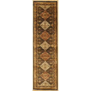 Handmade with Tabriz Design Runner Rug (2' 7 x 9' 11)