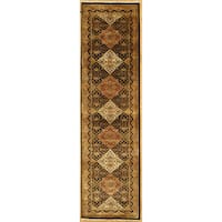 Handmade with Tabriz Design Runner Rug