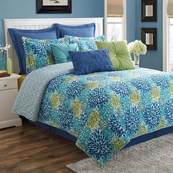 Fiesta Calypso Garden Cotton Quilt Set