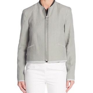 Elie Tahari Women's Grey Adelaide Linen Jacket