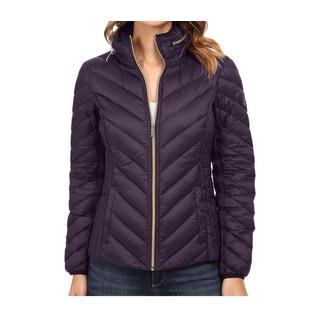 Michael Michael Kors Purple Hidden Hood Packable Jacket
