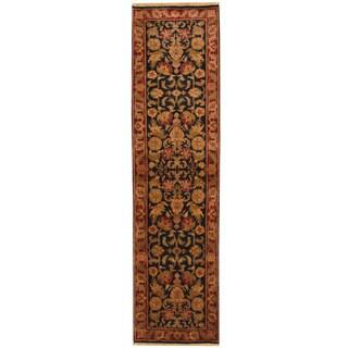 Herat Oriental Indo Hand-knotted Khorasan Wool Runner (2'6 x 9'9)