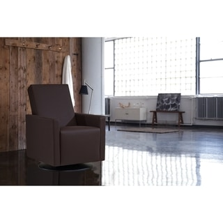 Dutailier Ultramotion Dark Brown Glide and Swivel Chair