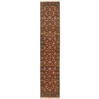 Herat Oriental Indo Hand-knotted Kashan Wool Runner (2'6 x 12'2)