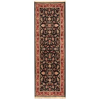 Herat Oriental Indo Hand-knotted Kashan Wool Runner (2'8 x 8')