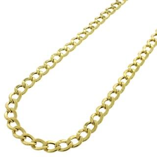 10k Gold 5mm Hollow Cuban Curb Link Necklace