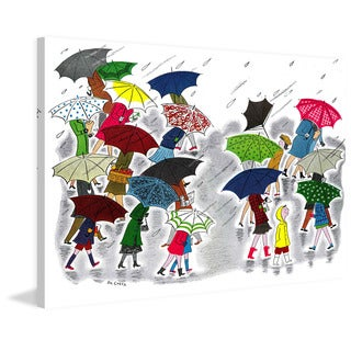 Marmont Hill 'Rainy Day' by Curtis Painting Print on Canvas - Multi-color