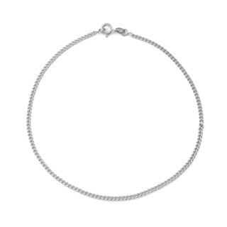 Gioelli Sterling Silver Curb Chain Anklet