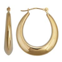Decadence 14k Yellow Gold High Polished Hoop Earrings