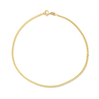 Gioelli Gold over Silver Curb Chain Anklet