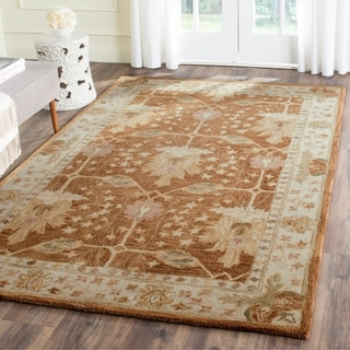 Safavieh Handmade Antiquity Brown/ Beige Wool Rug (3' x 5')