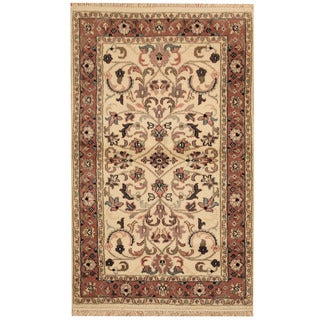 Herat Oriental Indo Hand-knotted Mahal Wool Rug (3' x 4'10)