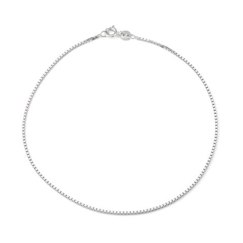 Jordan Blue NYC Sterling Silver Box Chain Anklet